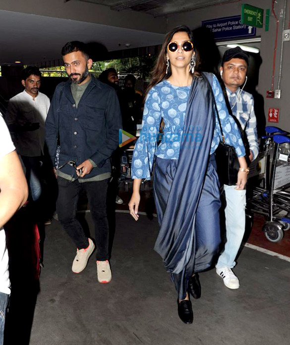 Sonam Kapoor, Anand Ahuja and Govinda snapped at the airport