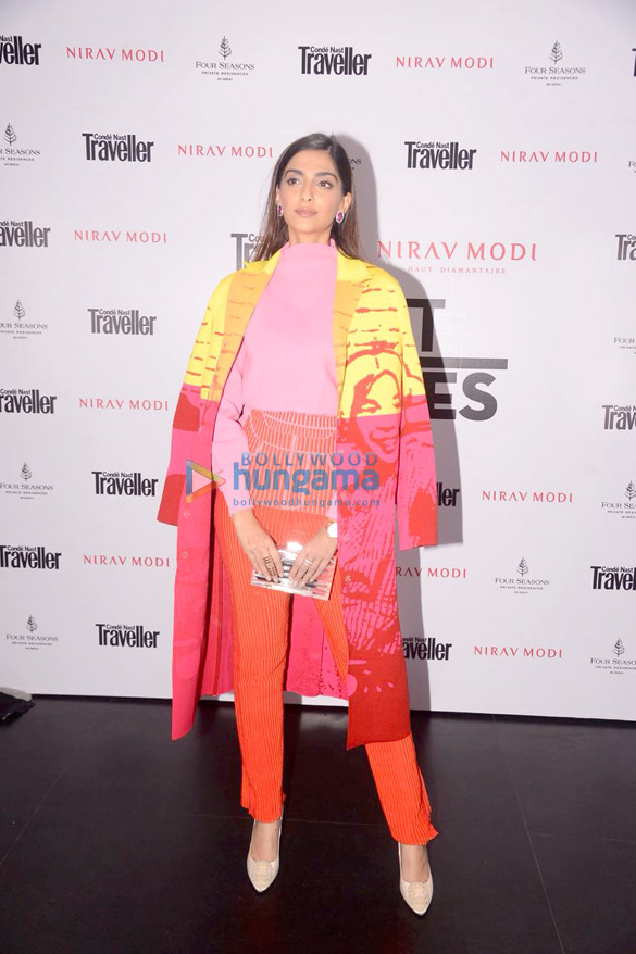 Sonam Kapoor and Mira Rajput attend the Condé Nast Traveller India event