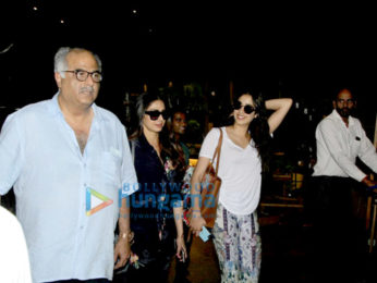Sridevi and family snapped returning from Goa