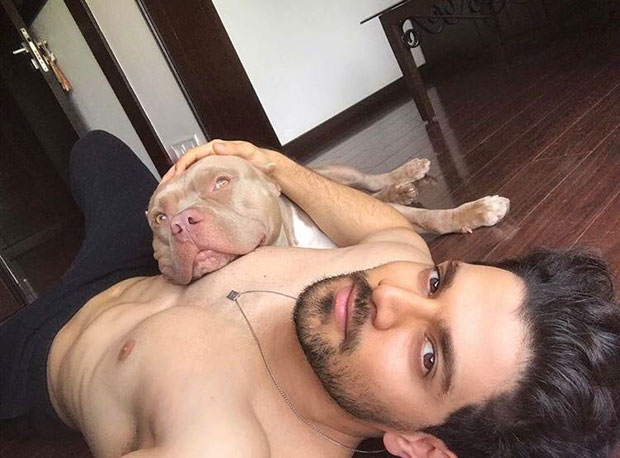 These pictures of Sooraj Pancholi cuddling with his dogs are adorable-1