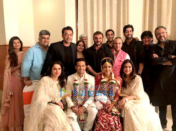 Drishyam actress and Tv actor wedding party attend by Bollywood stars
