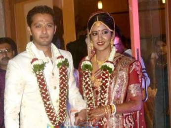 Vatsal Seth and Ishita Dutta pose after their wedding