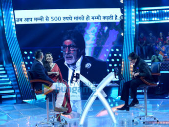 Vidya Balan and Yuvraj Singh on the sets of 'Kaun Banega Crorepati 9'