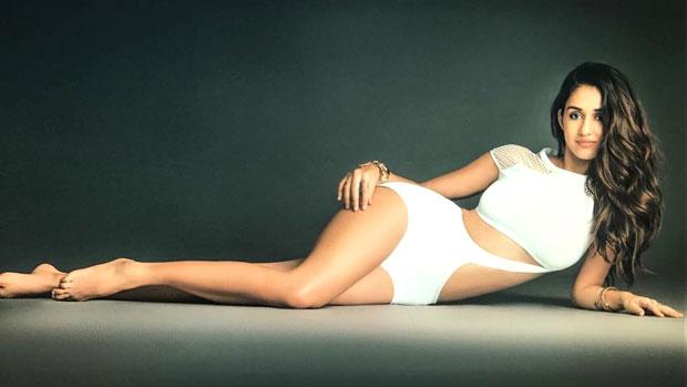 WOW! Disha Patani looks hot in a white monokini while shooting for Maxim