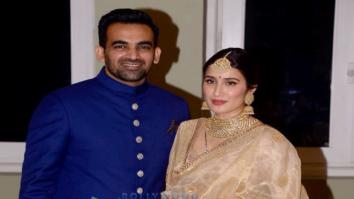 Zaheer Khan and Sagarika Ghatge arrive at their wedding reception