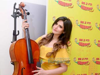 Zareen Khan snapped at Radio Mirchi 98.3 FM Studio