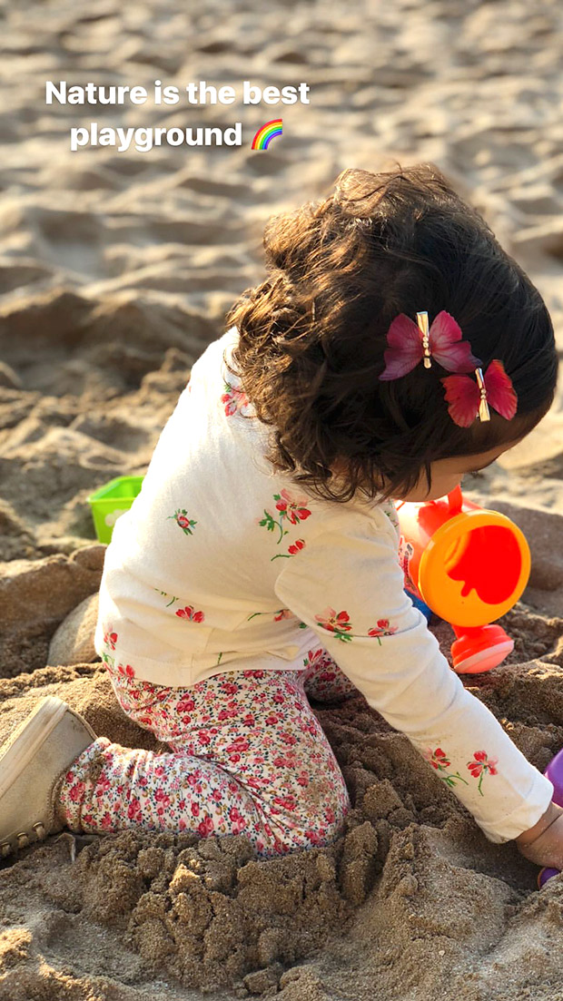 ADORABLE Shahid Kapoor's daughter Misha Kapoor has playtime at the beach