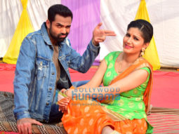 Abhay Deol and Sapna Chaudhary shoot for 'Nanu Ki Jaanu'