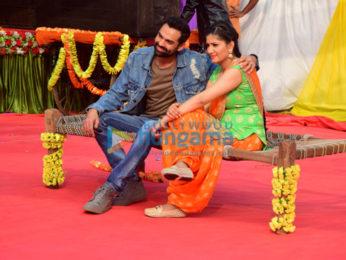 Abhay Deol and Sapna Chaudhary shoot for 'Nanu Ki Jaanu'
