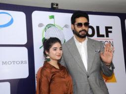 Abhishek Bachchan and Zaira Wasim attend the The Golf Foundation Pro-Am Championship 2017-1