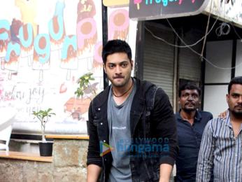 Ali Fazal snapped at a restaurant in Bandra