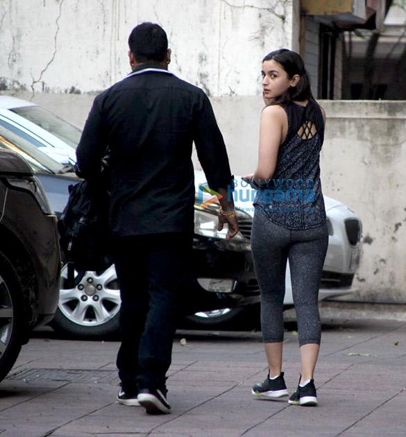 Alia Bhatt snapped at the gym