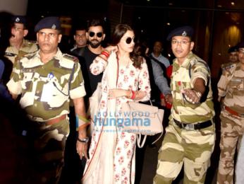 Anushka Sharma and Virat Kohli snapped at the airport