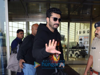 Arjun Kapoor and Jacqueline Fernandez snapped at the airport