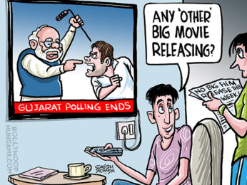 Bollywood Toons No big Bollywood film release in Gujarat Election week!