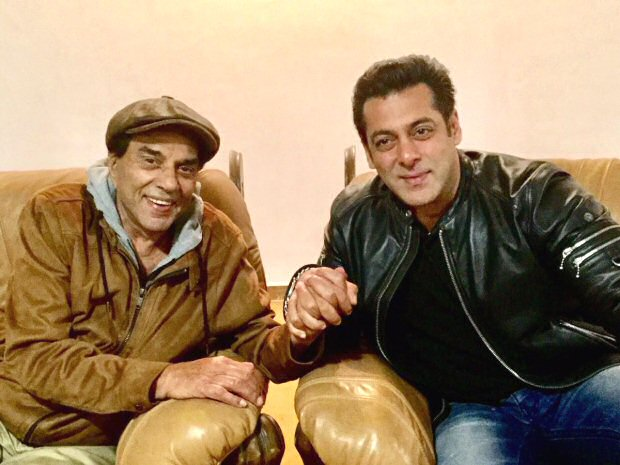 Check out Salman Khan pays a surprise visit to Dharmendra at his farm