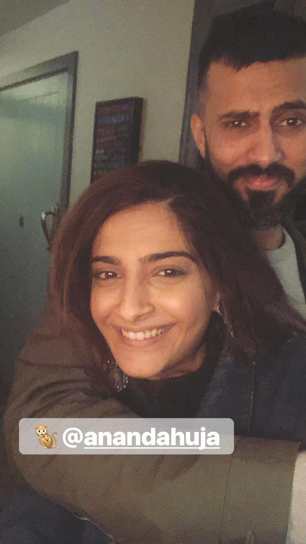 Check out Sonam Kapoor and Anand Ahuja make a cute pair during their London vacation