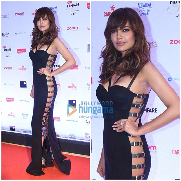 HOT! Esha Gupta stuns in an all back ensemble at the Filmfare Glamour and Style Awards