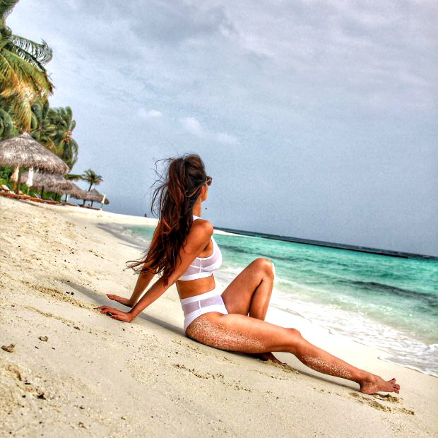 HOTNESS ALERT! White bikini-clad Disha Patani shies away from camera in this sizzling picture