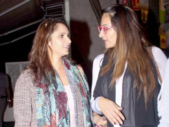 Huma Qureshi and Sania Mirza snapped at 145 Bandra
