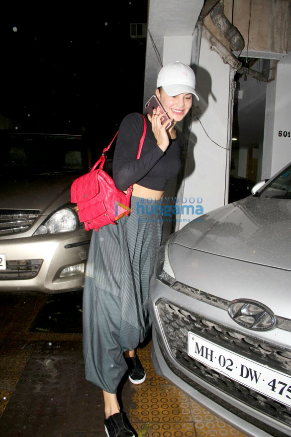 Jacqueline Fernandez snapped at a clinic in Khar