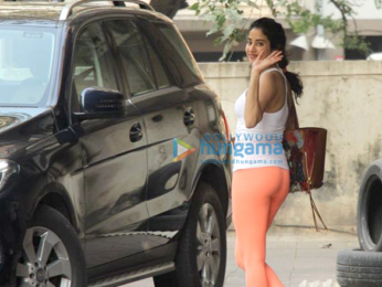 Janhvi Kapoor spotted outside her gym