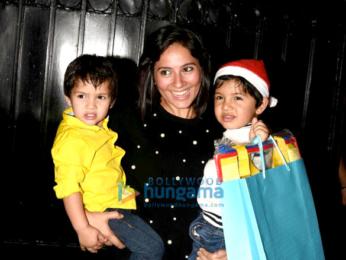Karan Johar with Roohi and Yash at Tusshar Kapoor's Christmas bash