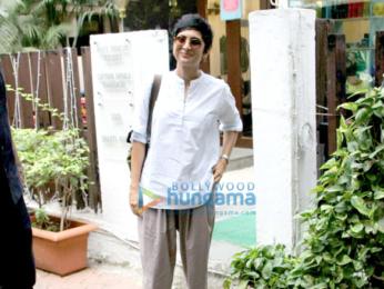 Kiran Rao snapped post a salon session