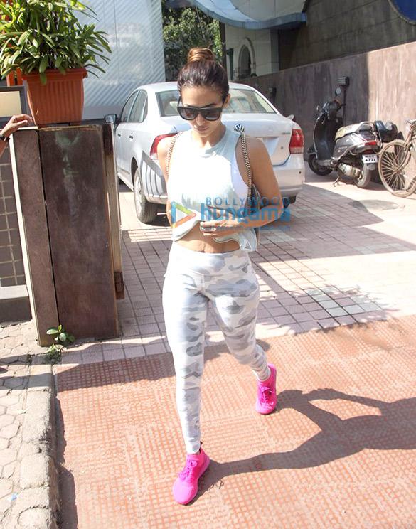 Malaika Arora and Deepika Padukone snapped at the gym