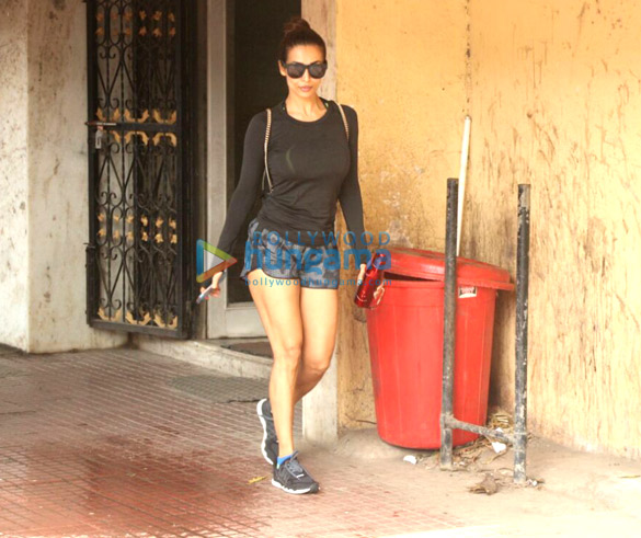 Malaika Arora spotted after her gym session in Khar