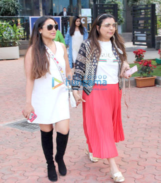 Rani Mukerji and Vaibhavi Merchant spotted at Yauatcha