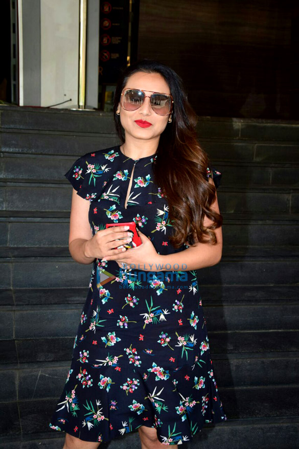 Rani Mukerji arrives for the trailer launch of 'Hichki'