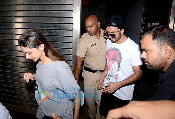 Ranveer Singh and Deepika Padukone at Zoya Akhtar's home