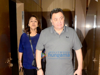 Rishi Kapoor and Neetu Singh snapped at PVR Juhu