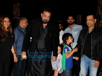 Sanjay Dutt snapped with his family at Yauatcha in Bandra