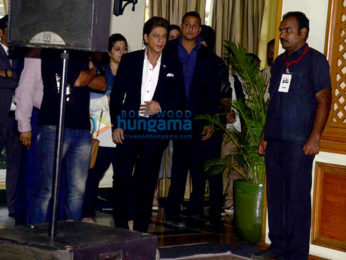 Shah Rukh Khan attends the press conference of 63rd Filmfare Awards