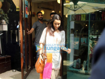 Shraddha Kapoor snapped outside the Bblunt salon
