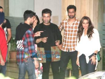 Sidharth Malhotra, Karan Johar, Kiara Advani and Neha Dhupia spotted at Bandra