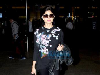 Sidharth Malhotra and Shamita Shetty snapped at the airport