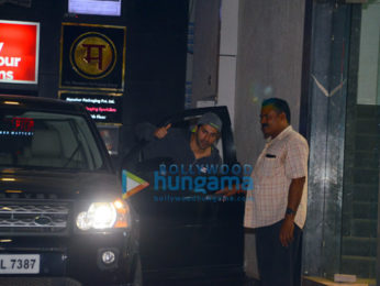 Sonal Chauhan and Varun Dhawan spotted after gym in Bandra