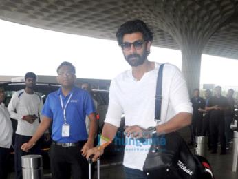 Sonam Kapoor and Rana Daggubati snapped at the airport