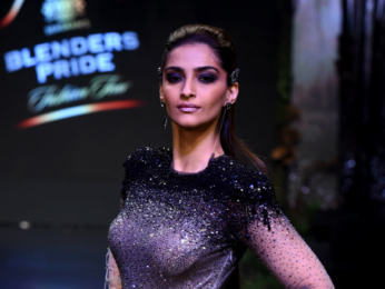 Sonam Kapoor walks the ramp for Tarun Tahiliani's at Blenders Pride Fashion Tour