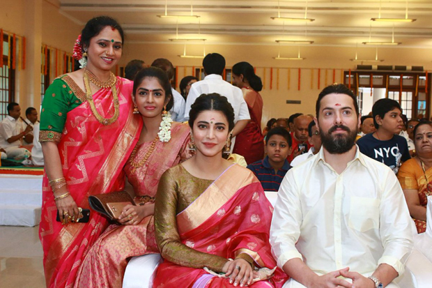 Spotted Shruti Haasan attends a friend's wedding with father-beau Michael Corsale