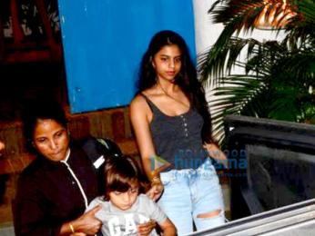 Suhana Khan, Abram Khan and Ananya Panday at Olive in Bandra