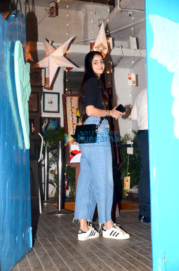 Suhana Khan, Abram Khan and Ananya Panday at Olive in Bandra