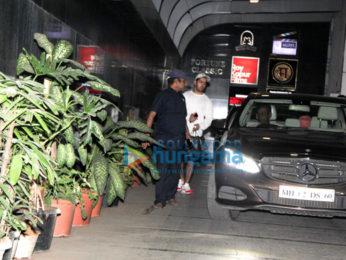 Varun Dhawan and Rohit Dhawan snapped at gym