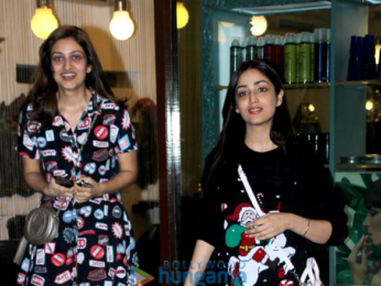 Yami Gautam snapped with sister at Bblunt