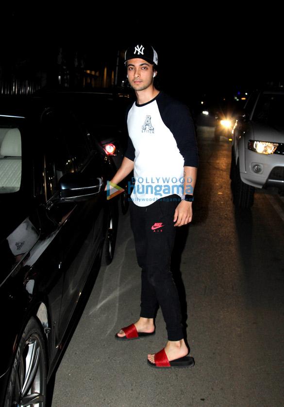 Aayush Sharma spotted at Bandra