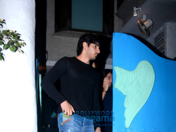 Ahan Shetty snapped with his girlfriend at Olive