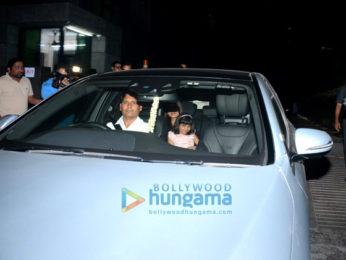Aishwarya Rai Bachchan, Abhishek Bachchan out with Aradhya for dinner-2